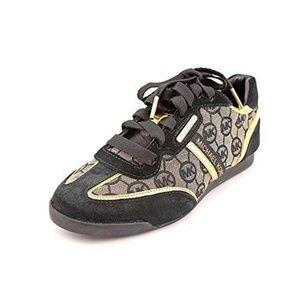 Michael Kors MK Black Gold Logo Sneakers 5